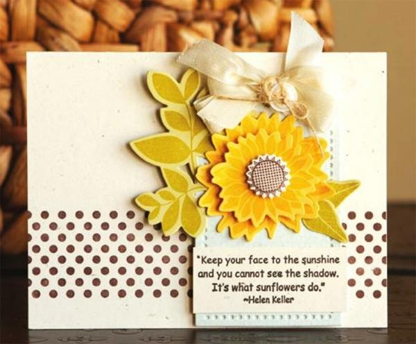sunflowers quote of thanks | Buttons & Bling: Keep Your Face to the Sunshine