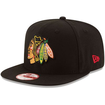Chicago Blackhawks New Era Tribute Turn 9FIFTY Snapback Adjustable Hat - Black
