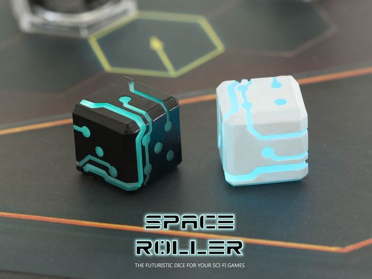 The perfect dice that cultivates your mood for  futuristic RPG games like Dreadball, Star Trek or just simply roll it for fun!