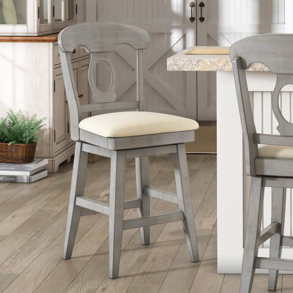 You Ll Love The Colasanto 25 78 Swivel Bar Stool At Wayfair Great Deals On All Furniture Products With Free Bar Stools Swivel Bar Stools Bar Stool Makeover