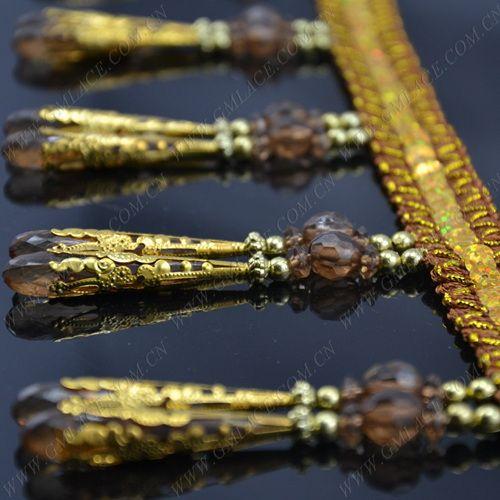 Aliexpress.com : braune perlen vorhang fransen trimmen mit gold Blech spangels für vorhangfassaden 2014 heißer verkauf schön fringe heimtextilien von verlässlichen Pony Haare-Lieferanten auf Trim Tassel Store kaufen