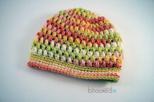 Free Puff Stitch Hat Pattern