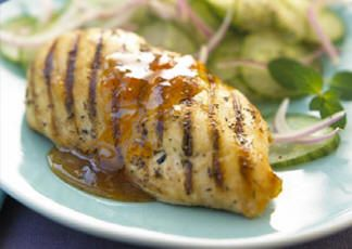 New Orleans Chicken with Apricot Mustard Sauce