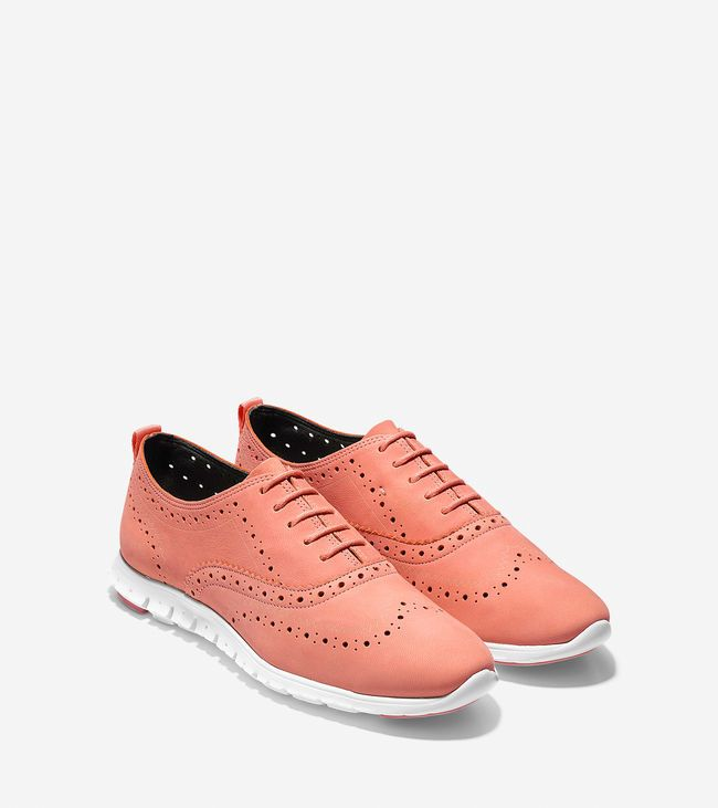 Shop women's ZEROGRAND Wingtip Oxfords in coral haze nubuck and see our  entire collection of women's shoes on sale.