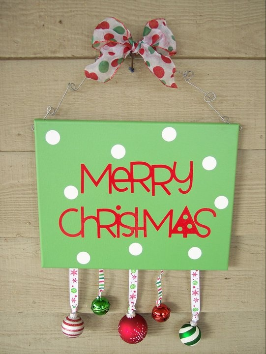 door sign with hanging ornaments