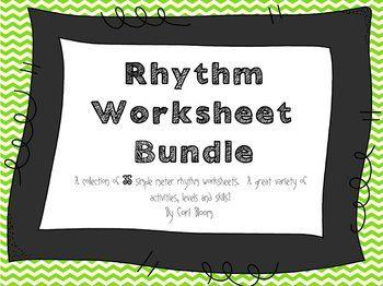 35 printable rhythm worksheets