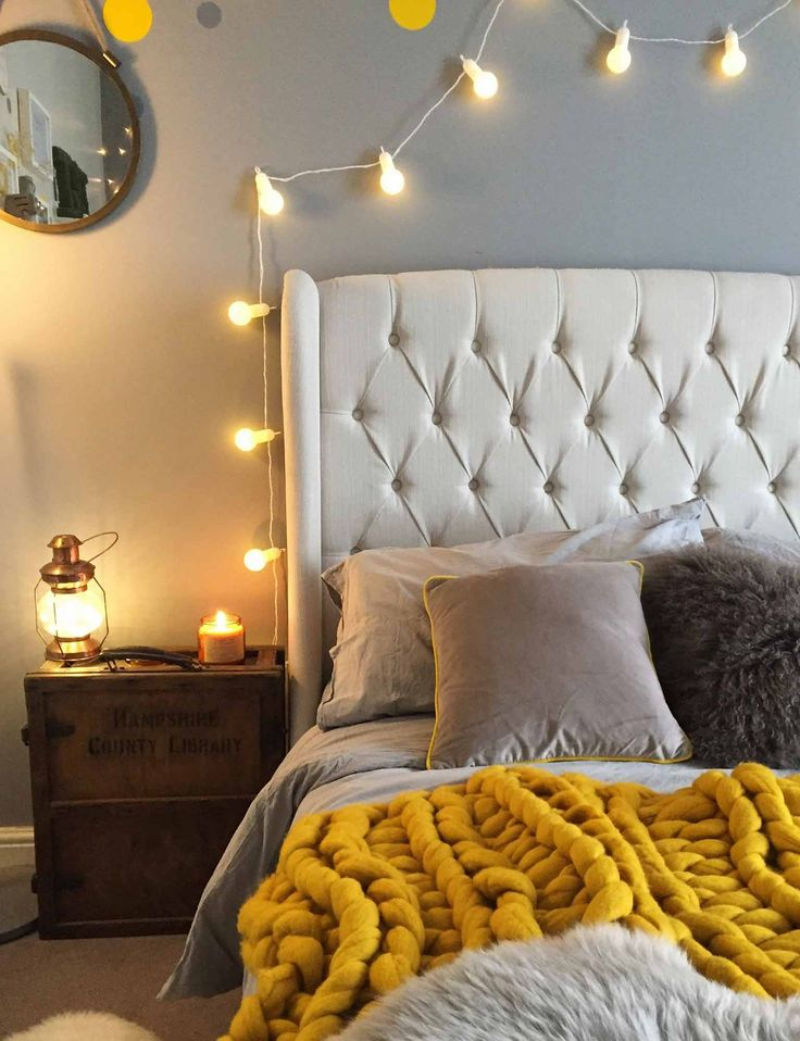 521 best images about bedroom lighting inspiration on for Room decor with fairy lights