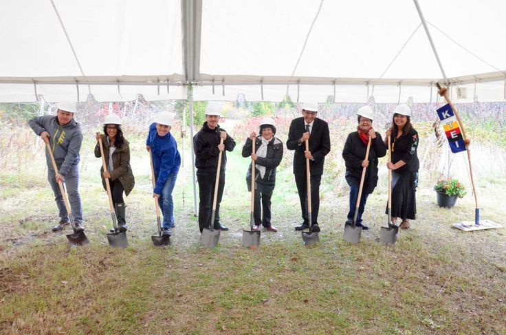 ON: groundbreaking ceremonies for a $2 million Anishinabek Skills, Innovation and Research Centre, Manitoulin Island