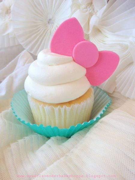 Hello Kitty Birthday Party Ideas. In love with this adorable Hello Kitty cupcake - great pink + aqua color combo!