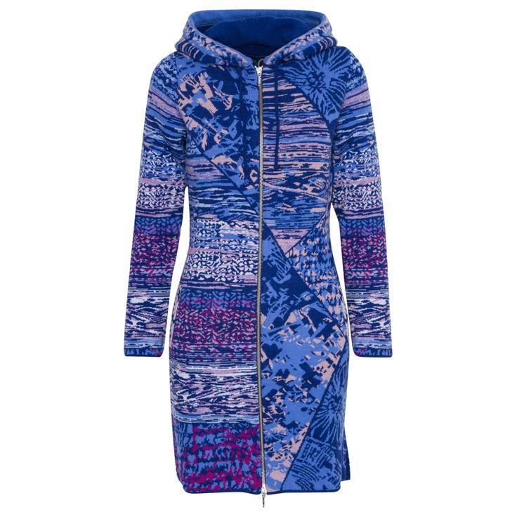 Blauw vest met gebreide achterkant van Kooi van IVKO - Lange vesten