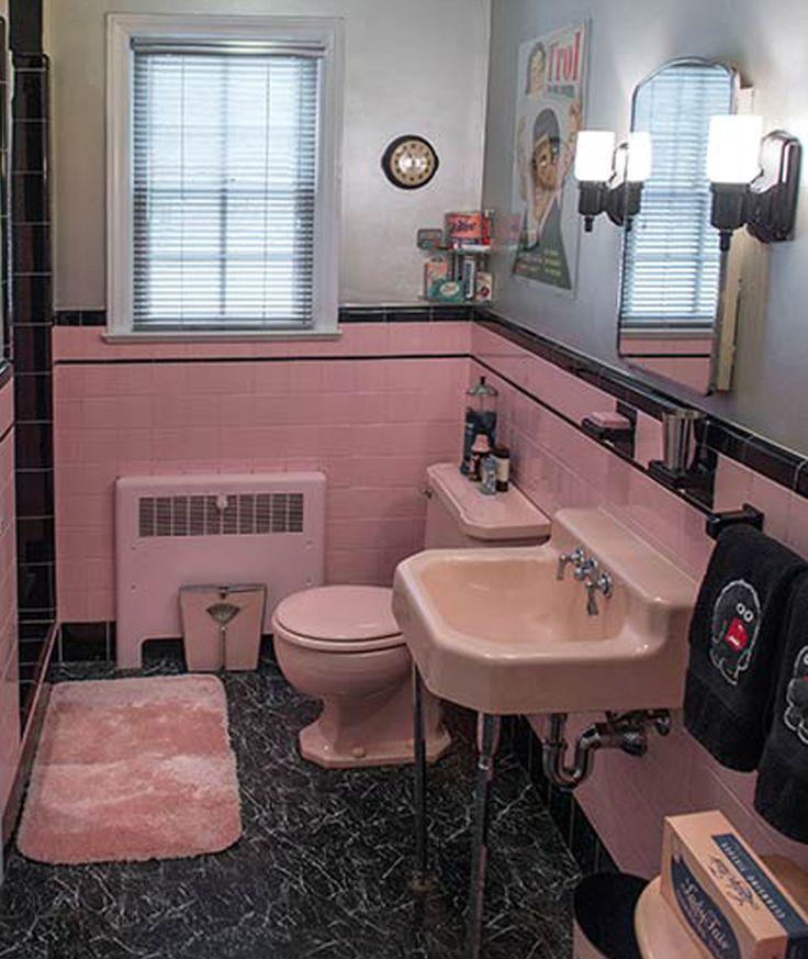17 Best Ideas About Pink Bathroom Vintage On Pinterest