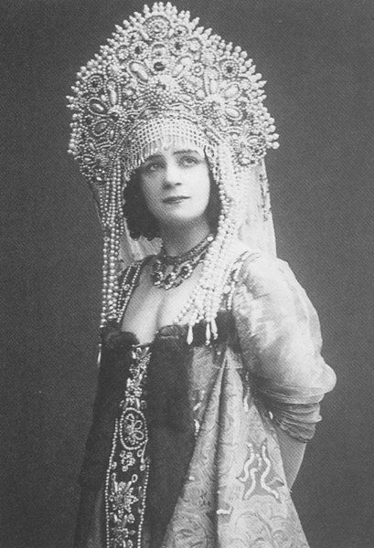 Ekaterina Geltzer, a Russian ballerina, wearing a traditional costume with a…