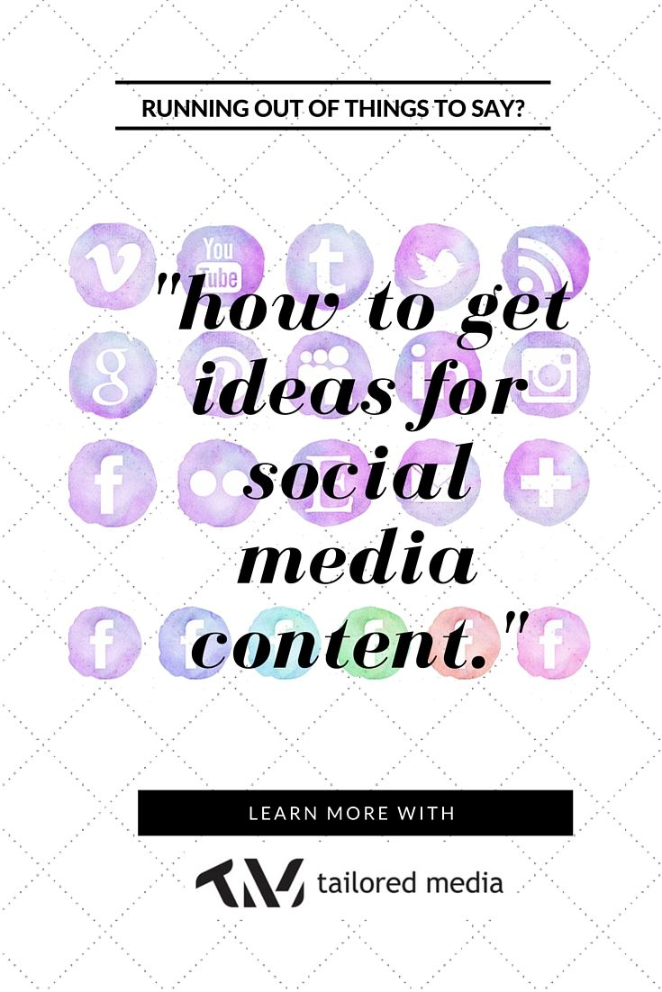 Churning out heaps on content on a daily basis can get tricky when you're running low on ideas.       Chloe, Tailored's Social Media Girl, gives a few inside tips on how to get great ideas for social media content.