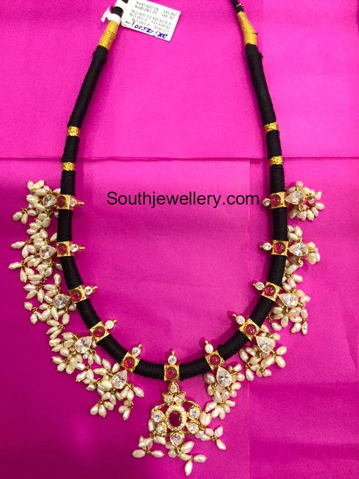 Black Dori Guttapusalu Necklace