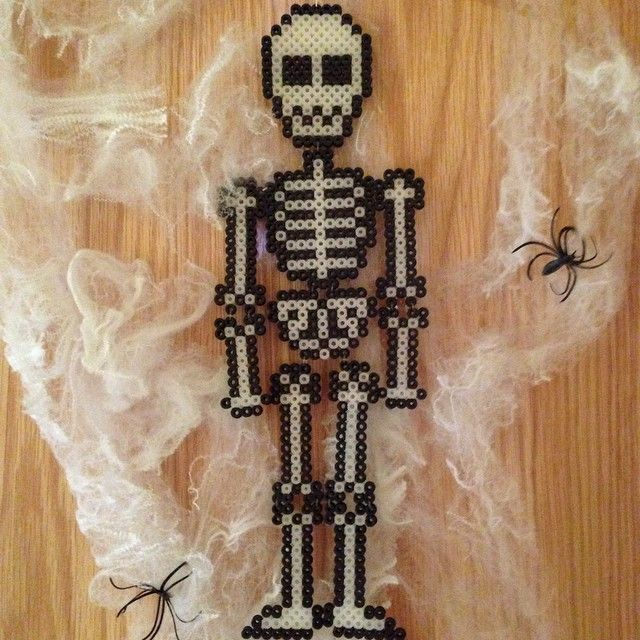 Skeleton Halloween hama beads by myecobeauty