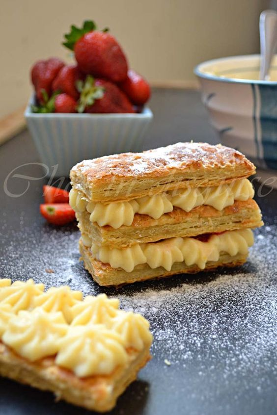 mille feuille and a step by step to making puff pastry from scratch