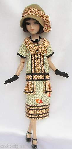 """OOAK Lady Amber's 1920s Deco Divine for 16"""" Ellowyne etc Made by Ssdesigns   eBay"""