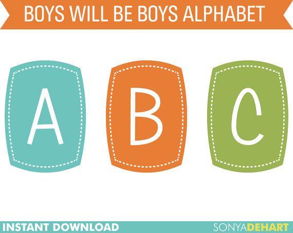 60 OFF Clipart Digital Alphabet Boys Will Be by SonyaDeHartDesign  https://www.etsy.com/listing/118426348/60-off-clipart-digital-alphabet-boys?ref=shop_home_active_3