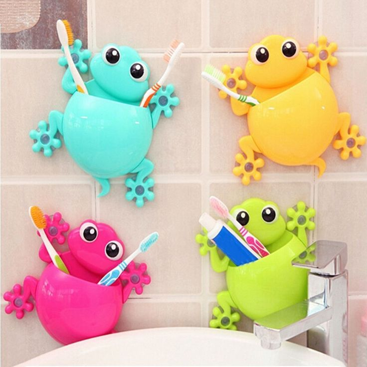 Home Bathroom Toothbrush Holder Wall Mount Suction Cup Toothpaste Storage Rack #UnbrandedGeneric