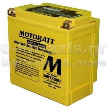 Μπαταρία μοτοσυκλετών MOTOBATT MBTX20U - 12V 21 (10HR)Ah - 280CCA εκκίνησης