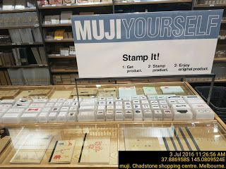 MUJI yourself   Japanese Melbourne Retail Stamps