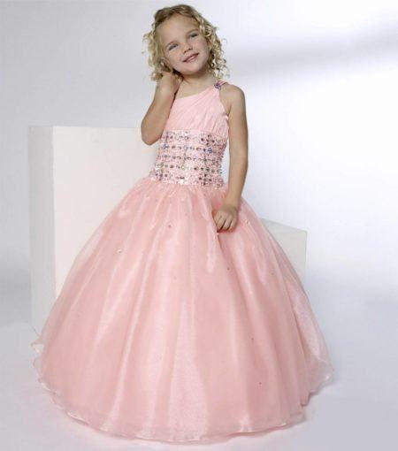 vestidos para dama de honra rosa com detalhes em prata