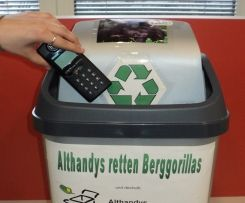 Recycling - mobile phones at Wilhelma