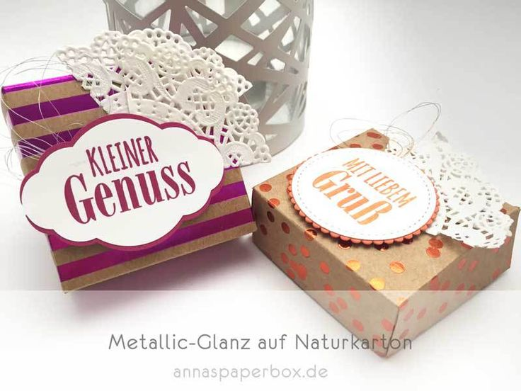 Metallic-Glanz Box - anna's paperbox