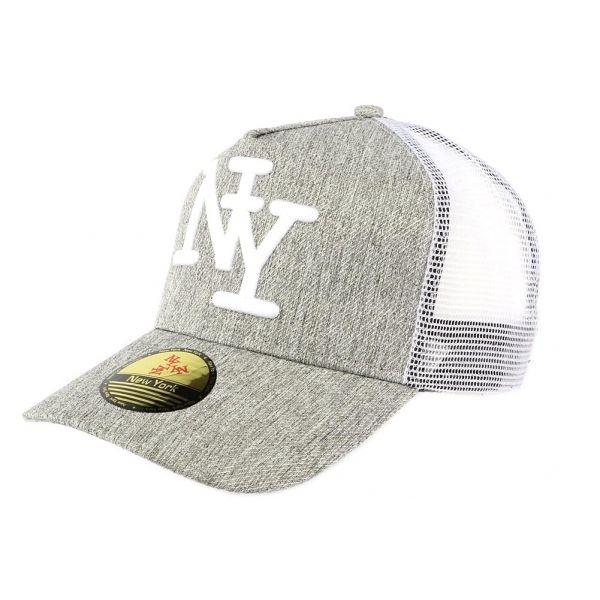 Casquette Baseball NY Grise Hip Hop Honour #mode #nouveaute #Casquette sur hatshowroom.com #startup #snapback