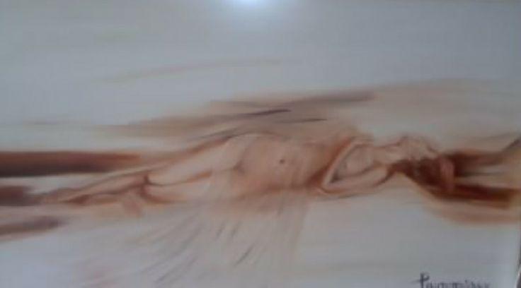 αιθέρια ύπαρξη oil on canvas by Litsa Raftopoulou