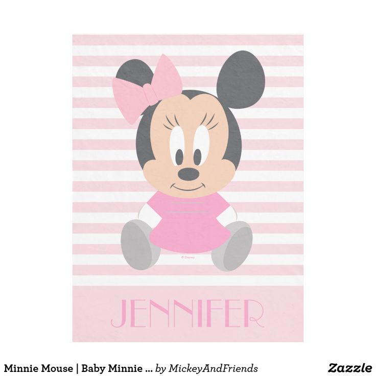 happy birthday invitation pictures%0A Minnie Mouse   Baby Minnie  Add Your Name Fleece Blanket