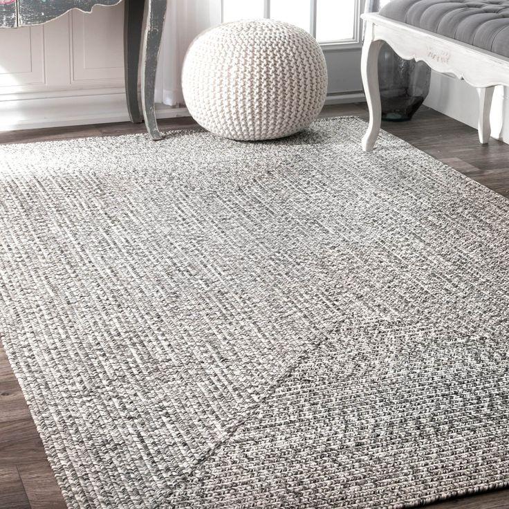 nuloom handmade casual braided blue rug 8u00276 x 11u0027