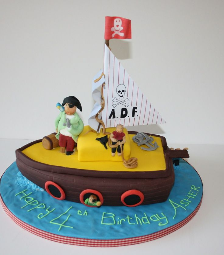 Cake Designs Pirate Ship : 1000+ ideas about Pirate Boat Cake on Pinterest Boat ...