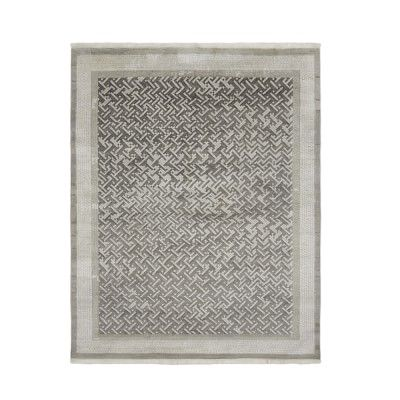 Luke Irwin, Deverill Mosaic Hand Knotted Rug, 9x12', Steeple Gray