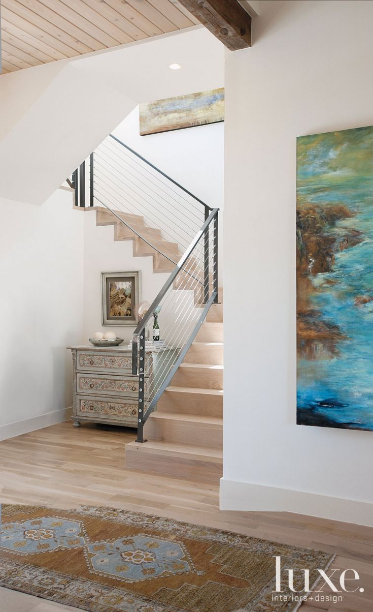 neutral modern staircase luxe halls stairs modern staircase staircases and