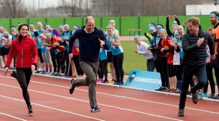 Prince William, Kate Middleton and Prince Harry Race Each Other for Charity