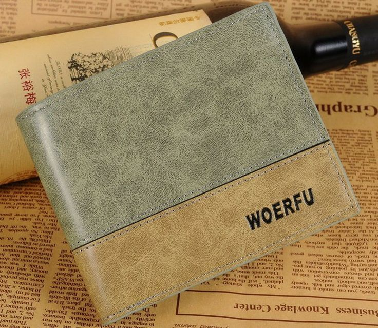 Promotion! Free shipping 2014 new fashion brand mens wallet, classic soild pattern designer wallet leather purse w019-in Wallets from Luggage & Bags on Aliexpress.com