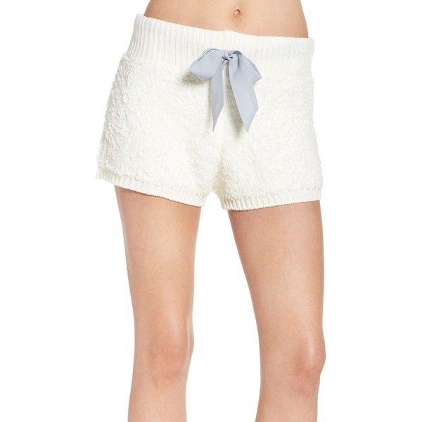 Women's Honeydew Intimates Cuddle Bug Lounge Shorts (56 AUD) ❤ liked on Polyvore featuring shorts, cream, fleece shorts and honeydew intimates