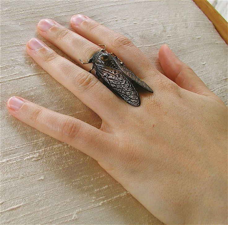 Black Cicada ring. I love the sound of the Cicada = summer