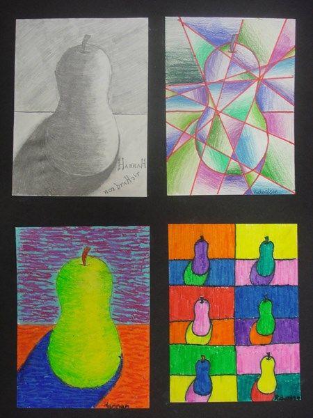 Een stuk fruit tekenen/schilderen a.d.h.v. een stijl. Artist study