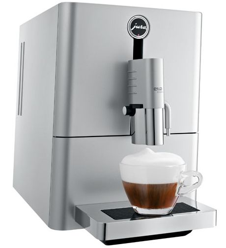 ENA Micro 9 One Touch is smallest one-touch automatic cappuccino machine on the market. This machine measures just 23cm in width and is 11% shorter than the compact ENA 9, thanks to the newly developed brewing unit, perfect for preparing a single cup and ensuring top-quality espresso results. The smaller size of the Jura espresso machine reinforced by the stylish Micro Silver colour, makes a strong impression.