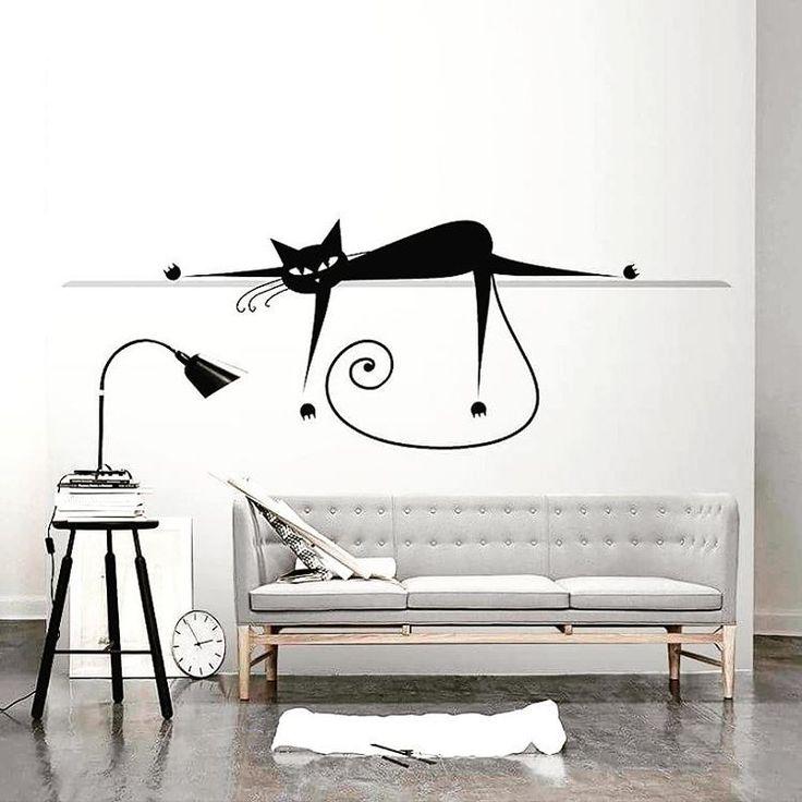 Są tu jacyś wielbiciele kotów? #koty #wystrójwnętrz #fototapety #stylskandynawski #scandi #minimalizm #inspiracje