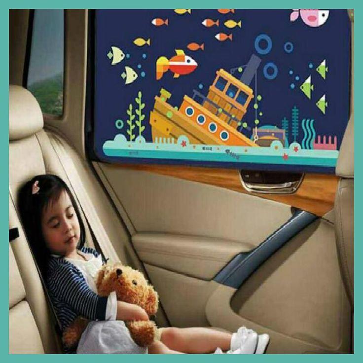 KEOGHS sunshade car side sunshade cartoon coche proteccion sol cortinas auto parasol coches lateral Suckercar window 2PCS/LOT