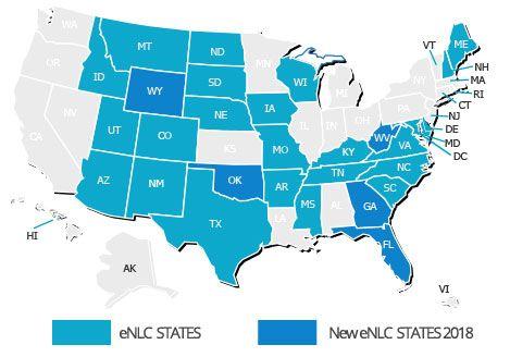 Compact Nursing States Map
