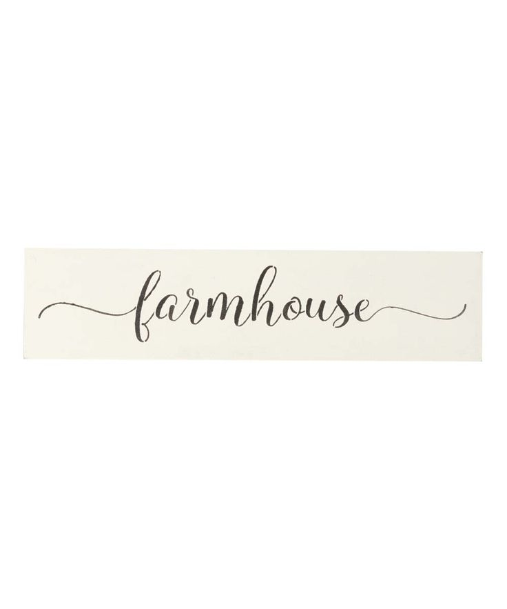 Script 'Farmhouse' Indoor/Outdoor Wall Sign