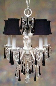 Black Shabby Chic Candelier