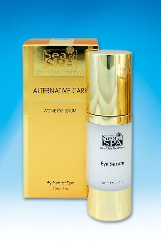 Aktywne serum pod oczy. Doskonała, bogata formuła aktywnych składników dba o skórę wokół oczu i pomaga redukować widoczne oznaki starzenia. Wyjątkowa kompozycja minerałów z Morza Martwego , sacharydów o właściwościach nawilżających, Witamin E-F-C, alg morskich i zielonej herbaty , wzmacnia naturalną równowagę nawodnienia skóry, regeneruje komórki i zwalcza wodne rodniki.