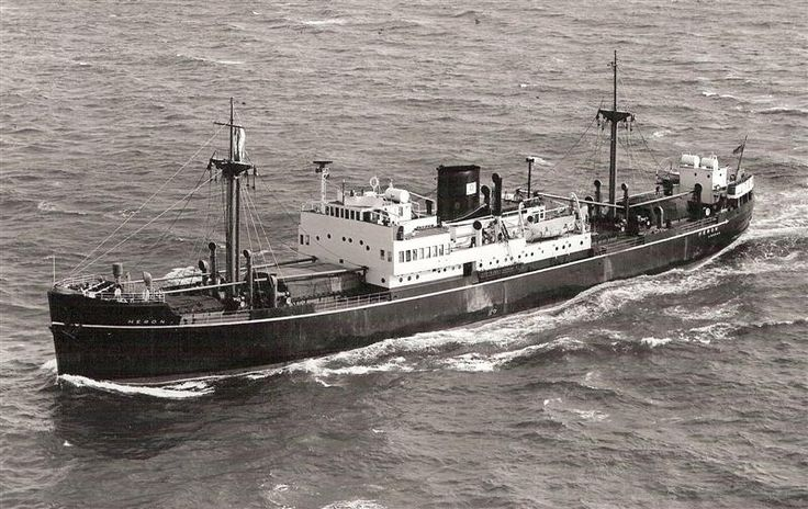 MV Heron built by Caledon Shipbuilding & Eng Co, Dundee for General Steam Nav. Co., London. Launched 20/7/37 completed 10/37. 2,374GRt, length 302.2ft, beam 45.2ft & depth 17ft. Single screw powered by a $cylinder Sulzer 2SCSA oil engine. Route UK to Med. '56 transferred to Moss Hutchinson Line & renamed Kurfa.  '59 sold to Cia. Naviera Soraya S.A., Beirut & renamed Arden. When through several changes ogf Greek ownership before being scrapped at Split in '74 as Grand Michael