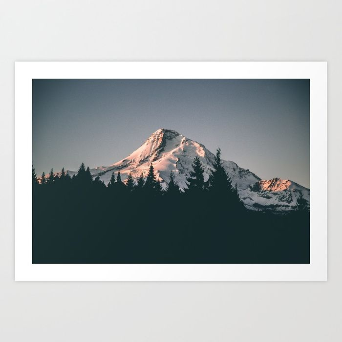 Buy First Light on Mount Hood Art Print by hannahkemp. Worldwide shipping available at Society6.com. Just one of millions of high quality products available.