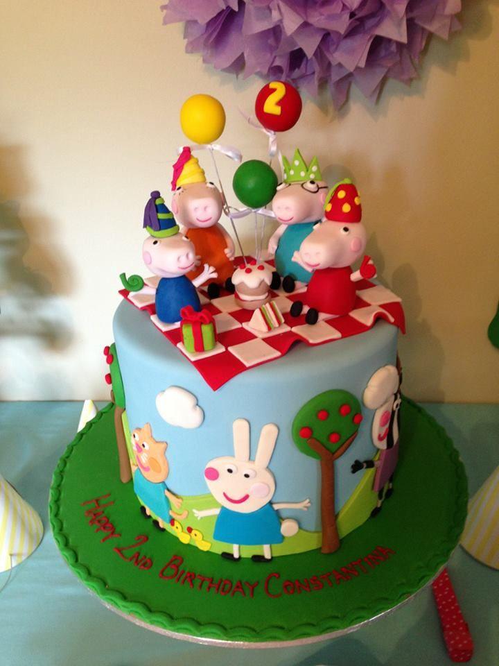 Peppa Pig cake - awesome!